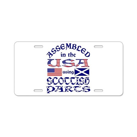 USA / Scottish Parts Aluminum License Plate