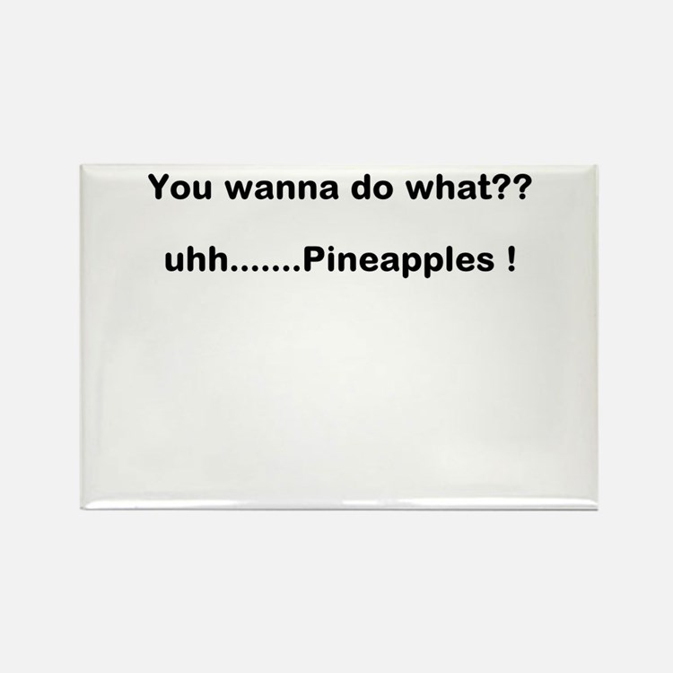 pineapples Rectangle Magnet