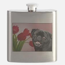 easter pug card Flask