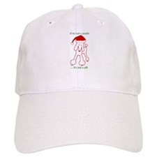 Holiday Poodle Dog Baseball Cap