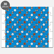 Blue Sports Puzzle