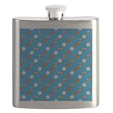 Blue Sports Flask