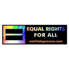 Equal Rights for All Bumper Bumper Sticker