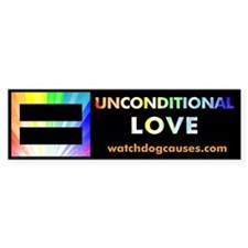 Unconditional Love Bumper Bumper Sticker