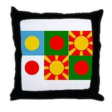 Six rising suns Throw Pillow