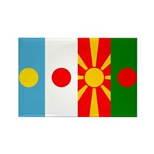 Rising four suns flags Rectangle Magnet