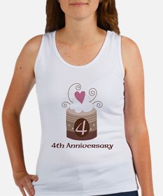 4th Anniversary Cake Women's Tank Top