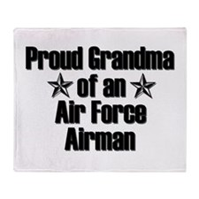 AF Proud Grandma Throw Blanket