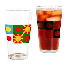 Six rising suns Drinking Glass
