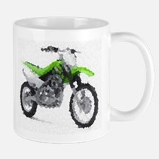 Green dirt bike Mug