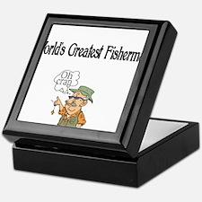 Worlds Greatest Fisherman Keepsake Box