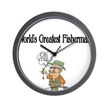 Worlds Greatest Fisherman Wall Clock