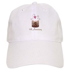 17th Anniversary Cake Baseball Cap
