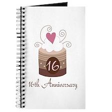 16th Anniversary Cake Journal