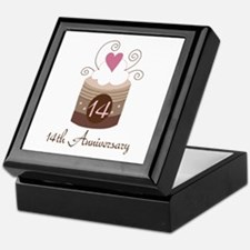 14th Anniversary Cake Keepsake Box