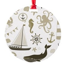 Beige Ocean Ornament