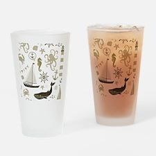 Beige Ocean Drinking Glass