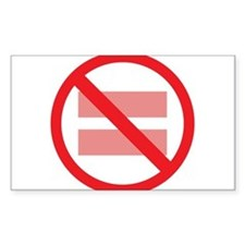 Marriage Equality - NOT ! Decal