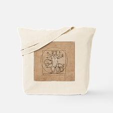 Vitruvian Squirrel Tote Bag