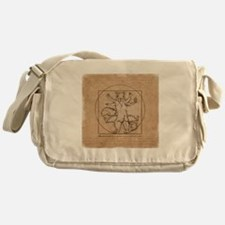 Vitruvian Squirrel Messenger Bag