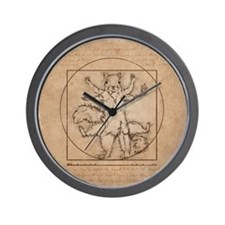 Vitruvian Squirrel Wall Clock