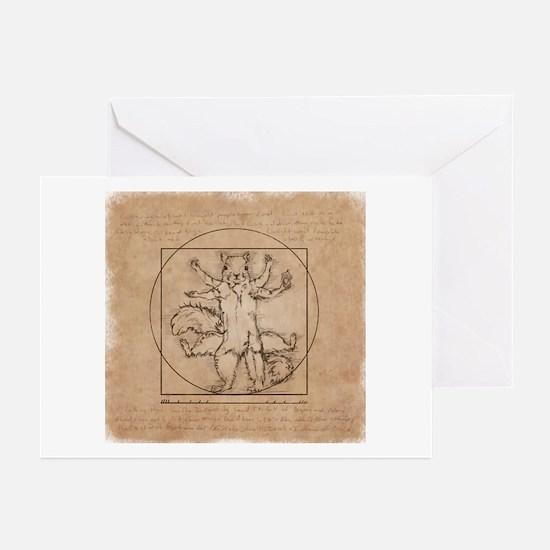 Vitruvian Squirrel Greeting Cards (Pk of 20)