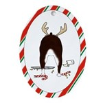 Boston Terrier Christmas Oval Ornament