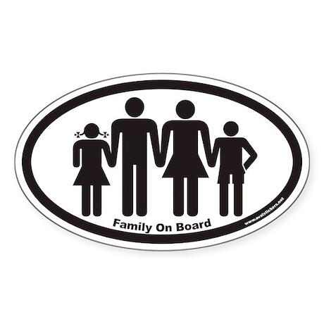 Family On Board Euro Oval Sticker