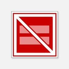 Straight Marriage is Not Square Sticker