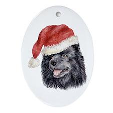 Christmas Swedish Lapphund Oval Ornament