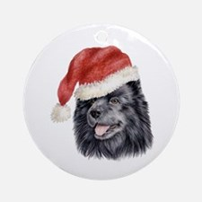 Christmas Swedish Lapphund Ornament (Round)