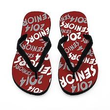 Maroon Grey White Senior Class OF 2014 Flip Flops