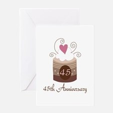 45th Anniversary Cake Greeting Card