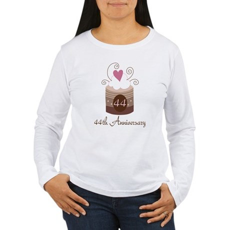 44th Anniversary Cake Women's Long Sleeve T-Shirt