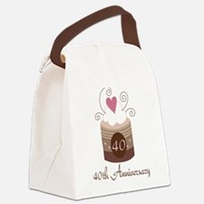 40th Anniversary Cake Canvas Lunch Bag