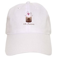 60th Anniversary Cake Baseball Cap