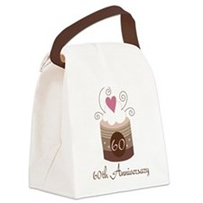 60th Anniversary Cake Canvas Lunch Bag