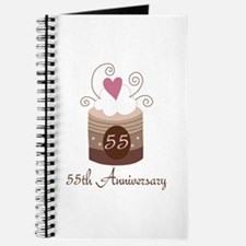 55th Anniversary Cake Journal