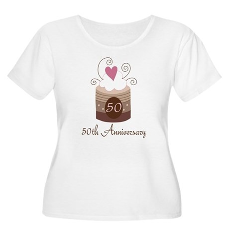 50th Anniversary Cake Women's Plus Size Scoop Neck