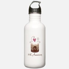 50th Anniversary Cake Water Bottle