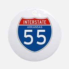 Interstate 55 - AR Ornament (Round)