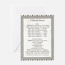 Pope Francis St. Francis SIMPLE PRAYER-Parchment G