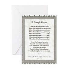 Pope Francis St. Francis SIMPLE PRAYER-Parchment G