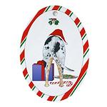 Catahoula Leopard Dog Christmas Oval Ornament