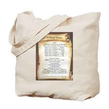 Pope Francis St. Francis SIMPLE PRAYER-Scroll Tote