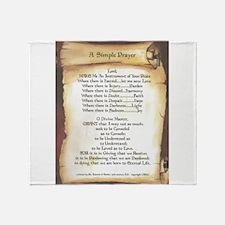 Pope Francis St. Francis SIMPLE PRAYER-Scroll Thro
