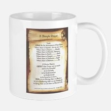 Pope Francis St. Francis SIMPLE PRAYER-Scroll Mug