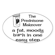 Prednisone Make Over Rectangle Decal