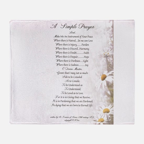 Pope Francis St. Francis SIMPLE PRAYER-Daisies Thr