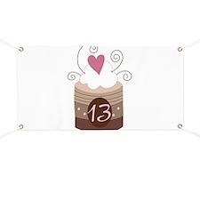 13th Birthday Cupcake Banner